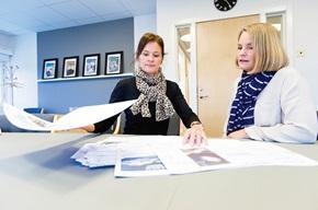 Liselotte Duvander vastaa yrityksen laskuviestintävälineestä ja Ulla Höglind on Volvofinans Bankin markkinointiviestintä- ja CRM-johtaja.